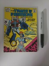 Transformers Comic Magazine Digest #5 vintage marvel 1987 ak2