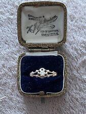 Antique Victorian 9ct Gold Diamond Single Stone Ring