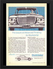 "1963 STUDEBAKER LARK AVANTI AD A3 FRAMED PHOTOGRAPHIC PRINT 15.7""x11.8"""