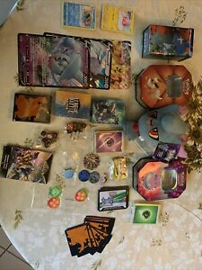 TOMY Pokemon Misdreavus Plush + 2 Decks +3 Jumbo Cards+ 25 Codes, Cards And More