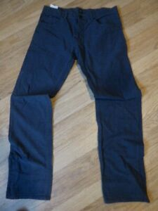 mens HUGO BOSS pinstripe canvas jeans - size 34/32 good condition