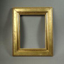 CADRE  STUC DORÉ FEUILLE XIXe feuillure : 26 x 20 cm