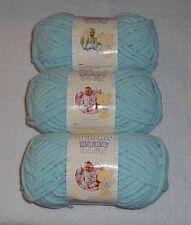 Bernat Baby Blanket Yarn Lot Of 3 Skeins (Seafoam #03736) 3.5 oz.