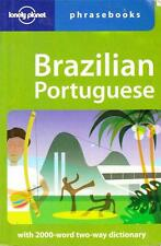 BRAZILIAN PORTUGUESE PHRASEBOOK - WITH TWO-WAY DICTIONARY LONELY PLANET GR8 USED