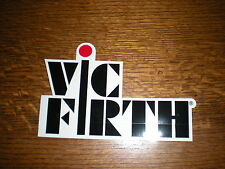 "VIC FIRTH PERCUSSION DRUMS BLACK AND CLEAR STICKER 6"" LONG"