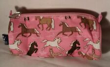 """Wildkin Horses in Pink Zippered Pouch, 8"""", 2014"""