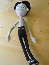"Disney Store Frankenweenie Victor poseable soft plush 23"" tall goth Tim Burton"