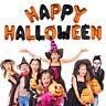 "16"" Orange Black Happy Halloween Foil Balloons Party Decorations Ribbon"