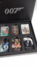 James Bond SET of SIX Movie Poster METAL Pin  BADGES official 007 Boxed * NEW
