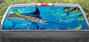 Rear window graphics Marlin Fishing