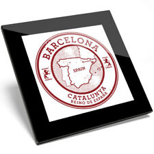 1 x Barcelona Catalunya Spain Espana Glass Coaster - Kitchen Student Gift #5723