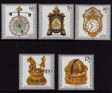 Germania OVEST Gomma integra, non linguellato Stamp Set Bundespost Orologi umanitario 1992 SG 2480-2484