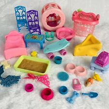 LPS Littlest Pet Shop Furniture & Accessories Lot Hamster Wheel, Cage, Cheese