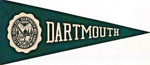 DARTMOUTH COLLEGE, hanover, new hamp-1940/50s COLLEGE decal STICKER pennant/RARE