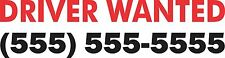 Driver Wanted Bumper Sticker Vinyl Decal Phone number Truck Taxi Delivery Bus bj