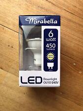 Mirabella LED Non Dimmable GU10 240v 6w Warm White Downlight