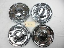 1960 Chevy Biscayne El Camino / All Dog Dish Poverty Hubcaps OEM Set of 4