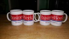 Set of 4 Unique Business Week Magazine Coffee Cups/Mugs