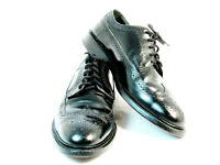 Bostonian Men's Safety Shoes Steel Toe Black Leather Oxford Wingtip 9E+