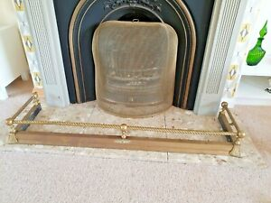 Lovely Vintage  Antique Brass Fire Fender Hearth Surround Fireplace
