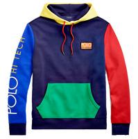 Polo Ralph Lauren Men Hi Tech Color Blocked Sweatshirt Hoodie Stadium Snow Beach