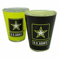 United States Army Two Tone Shot Glass - One Glass