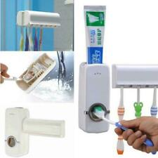 Bathroom Toothbrush Holder Automatic Toothpaste Dispenser Rack Wall Mount Stand