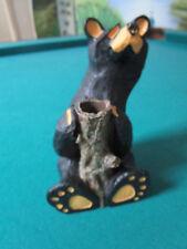 "BEAR FOOT BEAR FIGURINE SPILL VASE 6"""