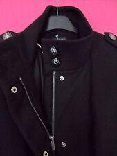 NWOT 'M&S COLLECTION' Black Funnel Neck Zipped Jacket UK 10 / EUR 38