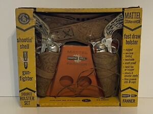 Mattel Fanner Dura Hyde Shootin Shell Gun Fighter Double Holster ORIGINAL BOX