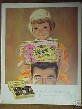 1962 Whitman Sampler Mother's Day Chocolate Print Ad
