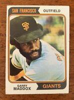 "1974 Topps Baseball #178  Garry Maddox (Giants) ""VG+/EX"""
