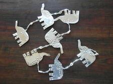 Balinese handcrafted aluminium hanging decoration elephants - 125cm