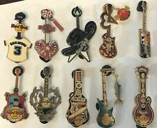 10 Hard Rock Cafe Pin Lot LIMITED EDITION GUITAR anniversary  - FREE SHIPPING