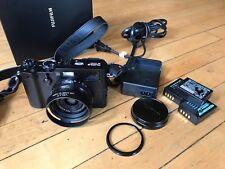 Fuji Fujifilm X100F Digital Camera (Black) - Mint w/ hood and extra batteries