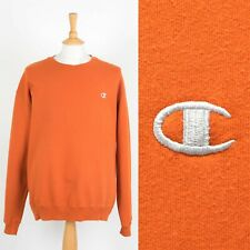 MENS VINTAGE CHAMPION SWEATSHIRT ORANGE CREW NECK SWEATER 90'S EXTRA LARGE XL