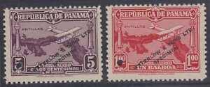 "PANAMA 1930 AIRPLANE & MAL Sc C10 & C14 FULL SET OF PERF PROOFS + ""SPECIMEN"" VF"