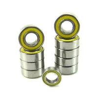 TRB RC Precision Ball Bearing Kit (10) YE Rubber Sealed Tamiya Grasshopper