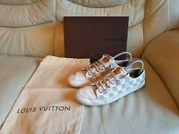 Ladies LOUIS VUITTON White Damier Trainers Shoes  39   UK  6    GENUINE