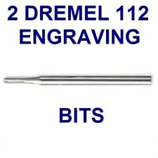 "2 NEW DREMEL # 112 DETAIL ENGRAVING CUTTER BIT 1/16"" POINT 3/32"" SHANK"