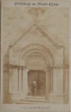 Paray-le-Monial Pélérinage au Sacré-Cœur Cdv Photo d'après gravure Albumine