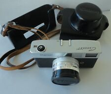 Vintage Canon Canonet with leather carrying case