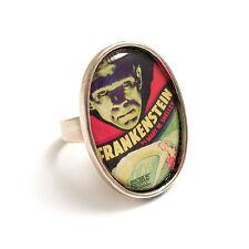 Frankenstein ring Frankenstein's monster silver adjustable Boris Karloff gothic