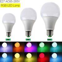 E27 3W 5W 10W AC 85-265V RGB LED Lamp with Remote Control multiple colour Light