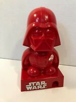 Star Wars Darth Vader M&M Candy Dispenser Red w/ Sound Missing Back Cover