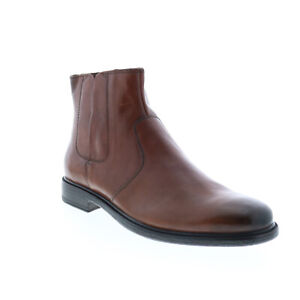 Geox U Terence U947HD0001JC6003 Mens Brown Leather Zipper Chelsea Boots