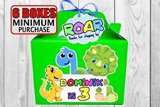 Bebé dinosaurio caja de fiesta de cumpleaños. favor, tratar, Goodie Personalizado, Bolsa De Regalo