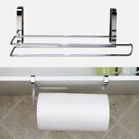 Kitchen Paper Holder Hanger Tissue Roll Towel Rack Bathroom Toilet Door Hook