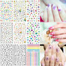 Hot 3D Beauty Nail Art Sticker Water Transfer Stickers Flower Decals Tips Decor