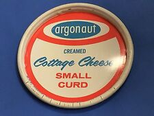 ARGONAUT CREAMED COTTAGE CHEESE SMALL CURD  METAL COASTER VINTAGE ORIGINAL